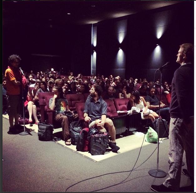 Séance de questions-réponses avec Kip Andersen au Cinéma du Parc, 10 septembre 2014