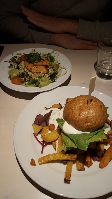 Seitan et burger